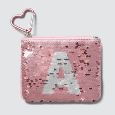 Flip Sequin Letter Purse  A  hi-res