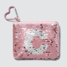 Flip Sequin Letter Purse  C  hi-res