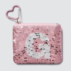 Flip Sequin Letter Purse  G  hi-res
