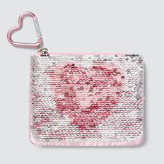 Flip Sequin Letter Purse  J  hi-res