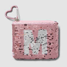 Flip Sequin Letter Purse  M  hi-res