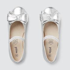 Bow Ballet Flat  SILVER  hi-res