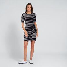 Knot Front Dress  DEEP NAVY/WHT STRIPE  hi-res