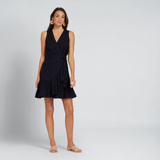 Wrap Frill Dress  DEEP NAVY  hi-res