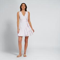 Wrap Frill Dress  LAVENDER  hi-res