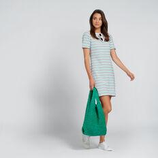 Easy Rolled Cuff Dress  MULTI STRIPE  hi-res