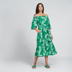 Off-Shoulder Palm Dress  PALM PRINT  hi-res