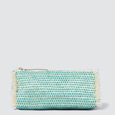 Woven Cosmetic Case  PEACOCK GREEN  hi-res