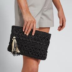 Lindsay Crochet Pouch  BLACK  hi-res