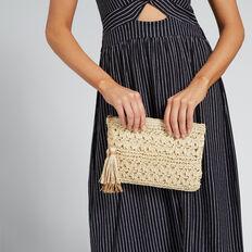 Lindsay Crochet Pouch  NATURAL  hi-res