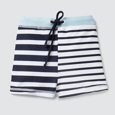 Splice Stripe Swim Short  MIDNIGHT BLUE  hi-res