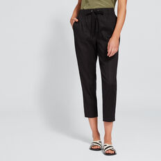 Stitch Front Pant  BLACK  hi-res