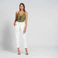 Paperbag Slim Pant  BISQUE  hi-res