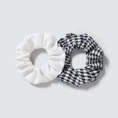 2 Pack Scrunchie  GINGHAM  hi-res