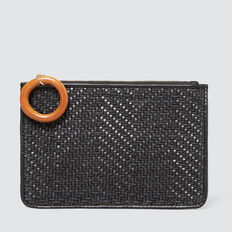 Weave Coin Purse  BLACK  hi-res