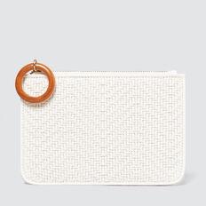 Weave Coin Purse  WHITE  hi-res