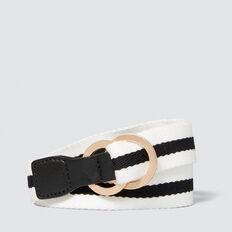 Stripe Belt  WHITE/BLACK STRIPE  hi-res