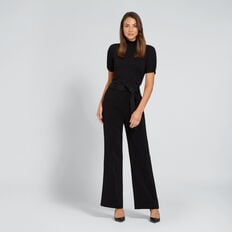 Contrast Stitch Pant  BLACK  hi-res