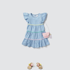 Ric Rac Tiered Dress  SUMMER BLUE  hi-res