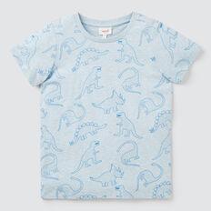 Sketch Dino Yardage Tee  SLEEPY BLUE MARLE  hi-res