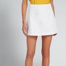 Basic Denim Skirt  WHITE  hi-res