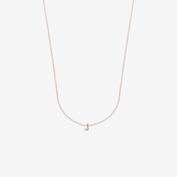 Initial Necklace  J  hi-res