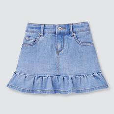 Peplum Denim Skirt  BRIGHT WASH  hi-res