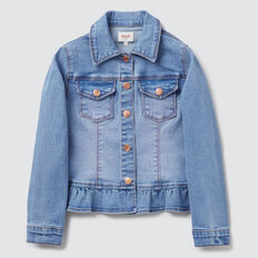 Peplum Jacket  BRIGHT WASH  hi-res