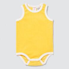 Towelling Bodysuit  SUNSHINE YELLOW  hi-res