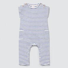 Slouchy Stripe Jumpsuit  DEEP COBALT  hi-res