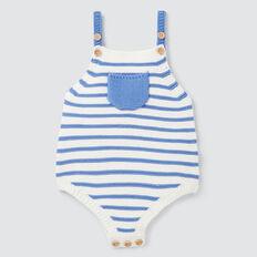 Knit Stripe Onesie  BRIGHT BLUEBELL  hi-res