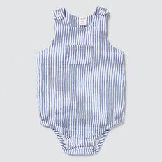 Cheesecloth Stripe Onesie  DEEP COBALT  hi-res
