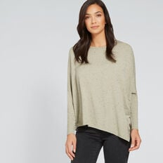 Asymmetrical Sweater  WASHED OLIVE  hi-res