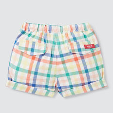 Woven Plaid Roll Short  MULTI  hi-res