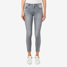 Mid-Rise Skinny Jean  LIGHT GREY DENIM  hi-res