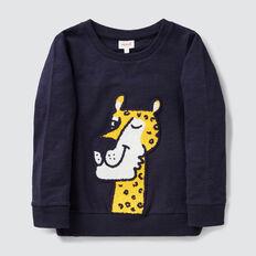 Leopard Chenille Sweater  MIDNIGHT BLUE  hi-res