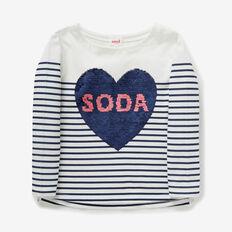 Soda Pop Sequin Tee  NAVY/CANVAS  hi-res