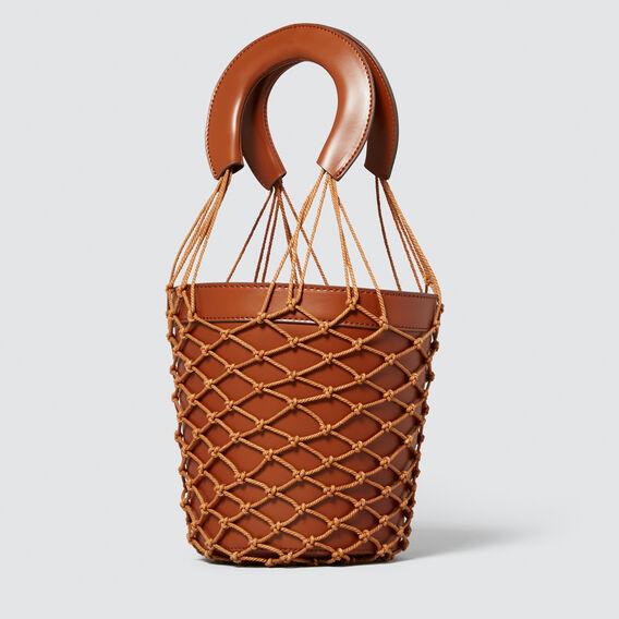 Crochet Bucket Bag  TAN  hi-res