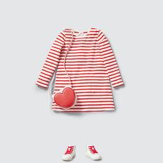 Stripe Pocket Dress  APPLE RED/CANVAS  hi-res