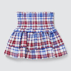 Check Skirt  COBALT  hi-res