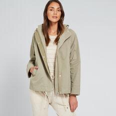 Cropped Parka Jacket  WASHED OLIVE  hi-res