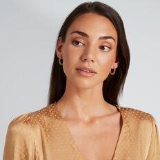 Mini Hoop Earrings  GOLD  hi-res