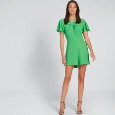 Crinkle Playsuit  WASHED GREEN  hi-res