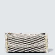 Woven Cosmetic Case  BLACK  hi-res