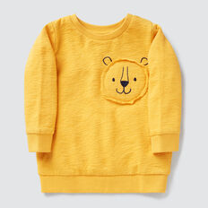 Lion Patch Crew Sweater  LION YELLOW  hi-res