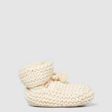 Knit Booties  RICH CREAM  hi-res