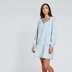 Chambray Dress  PASTEL DENIM WASH  hi-res