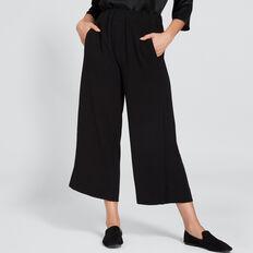 Split Front Pant  BLACK  hi-res