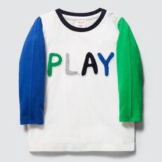 Play Slogan Tee  VINTAGE WHITE  hi-res