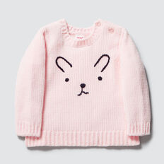 Chenille Bunny Sweater  ICE PINK  hi-res